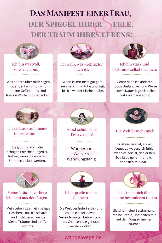 Affirmationen für sensible Frauen